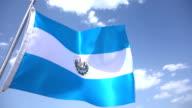 Flag of El Salvador video