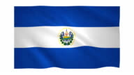 Flag of El Salvador video