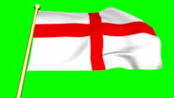 Flag of England   animated on green screen video