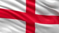 Flag of England - seamless loop video