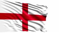 flag of England (loop) video