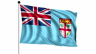 flag of Fiji - loop (+ alpha channel) video