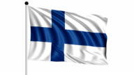 flag of Finland - loop (+ alpha channel) video