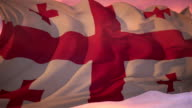Flag of Georgia video