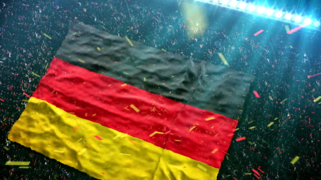 Flag of Germany at the stadium video