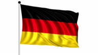 flag of Germany - loop (+ alpha channel) video