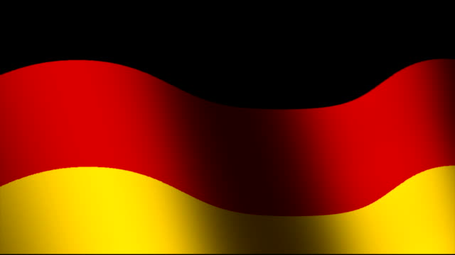 Flag of Germany waving video