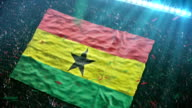 Flag of Ghana at the stadium video