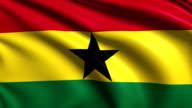 flag of Ghana (loop) video