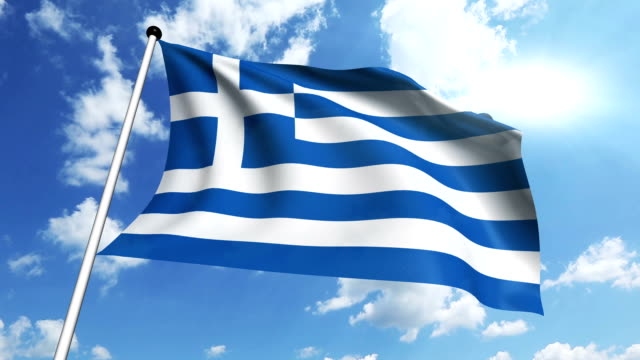 flag of Greece video