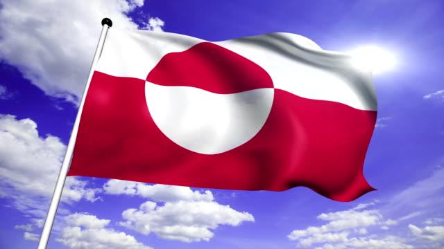 flag of Greenland (loop) video