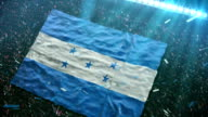 Flag of Honduras at the stadium video