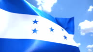 Flag of Honduras High Detail video