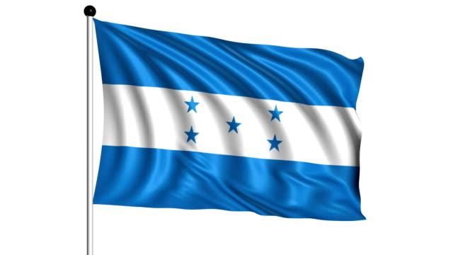 flag of Honduras - loop (+ alpha channel) video