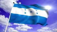 flag of Honduras (loop) video