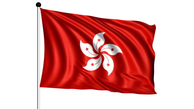 flag of Hong Kong - loop (+ alpha channel) video