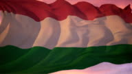 Flag of Hungary video