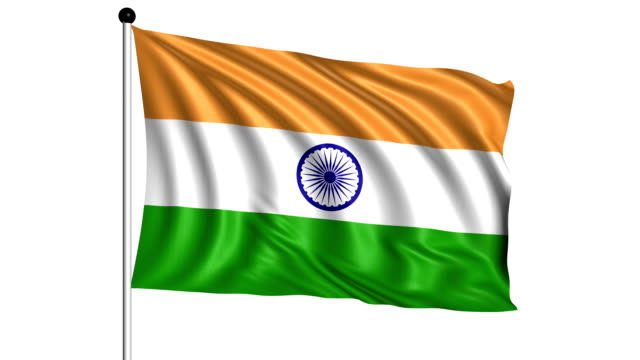 flag of India - loop (+ alpha channel) video
