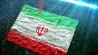Flag of Iran at the stadium video