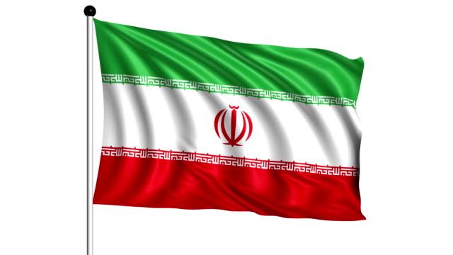 flag of Iran - loop (+ alpha channel) video