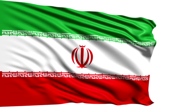 flag of Iran (loop) video