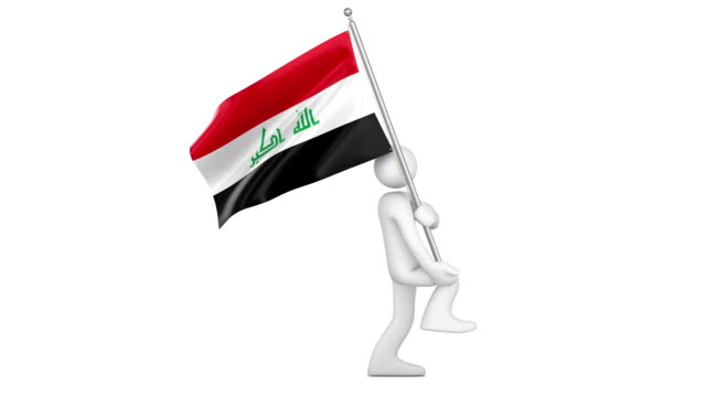 Flag of Iraq (Alpha Channel Included) video