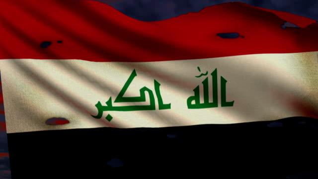Flag of Iraq, war video