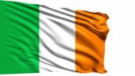 flag of Ireland (loop) video