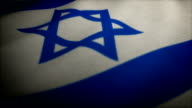 Flag of Israel HD Loop video