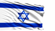 flag of Israel (loop) video
