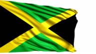 Flag of Jamaica (loop) video
