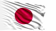 flag of Japan (loop) video