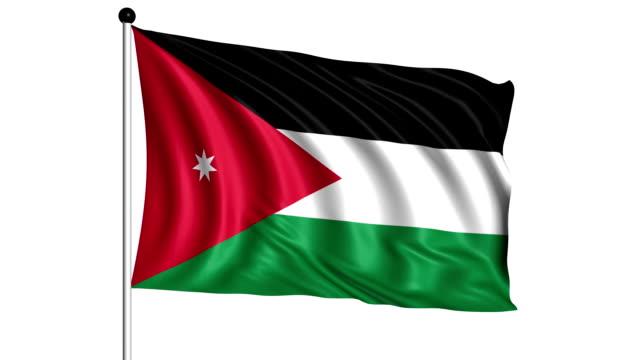 flag of Jordan - loop (+ alpha channel) video