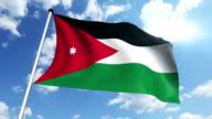 flag of Jordan (loop) video