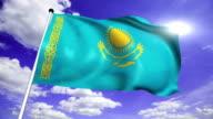 flag of Kazakhstan (loop) video