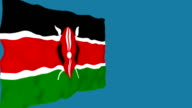 Flag of Kenya. video