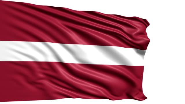 flag of Latvia (loop) video