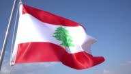 Flag of Lebanon video