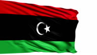 flag of Libya (loop) video