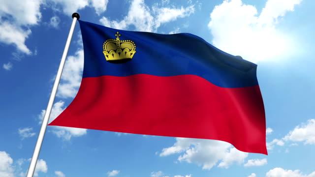 flag of Liechtenstein video