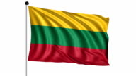 flag of Lithuania - loop (+ alpha channel) video