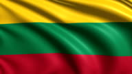 flag of Lithuania (loop) video