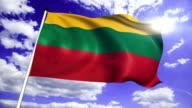 flag of Lithuania video