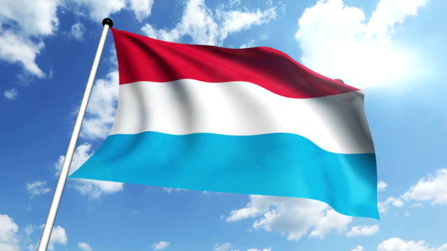 flag of Luxembourg video