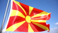 Flag of Macedonia video