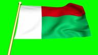 Flag of  Madagascar Animation video