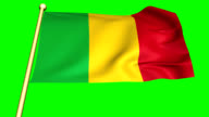 Flag of  Mali Animation video