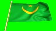 Flag of  Mauritania Animation video