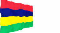 Flag of Mauritius. video