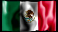 Flag of Mexico video